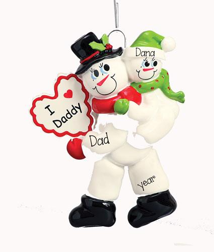 "Child Riding Piggy Back ""I love daddy"" Ornament"