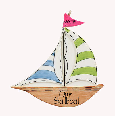 Sailboat-Personalized Ornament