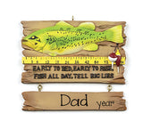 Early to bed early to rise, fish all day, tell big lies fishing ORNAMENT / MY PERSONALIZED ORNAMENTS