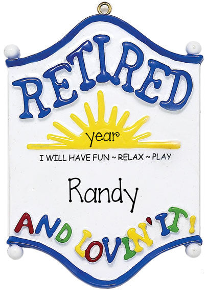 RETIRE/RETIREMENT - Personalized Ornament