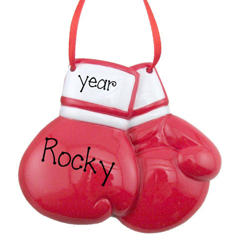 Red Boxing Gloves - Personalized Ornament