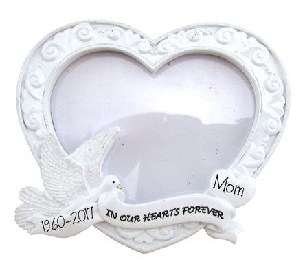In our hearts forever Memorial - Photo Frame Ornament