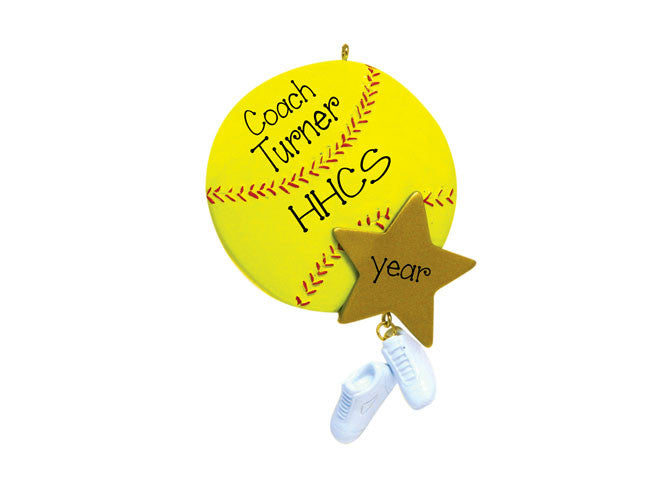 SOFTBALL COACH ORNAMENT / MY PERSONALIZED ORNAMENTS