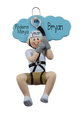 MALE ZIP LINE ORNAMENT / MY PERSONALIZED ORNAMENTS