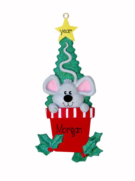 MOUSE in CHRISTMAS TREE - Ornament