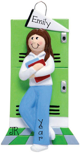 FEMALE STUDENT SCHOOL LOCKER - Ornament
