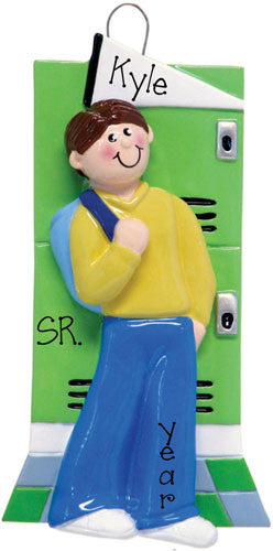 MALE STUDENT SCHOOL LOCKER - Ornament