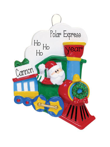 SANTA TRAIN - Personalized Ornament