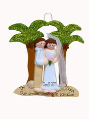 TROPICAL DESTINATION WEDDING / MY PERSONALIZED ORNAMENT