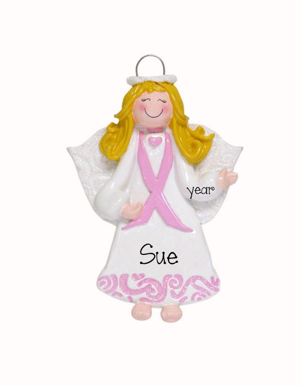 "Breast Cancer ""Angel of Hope""~ Personalized Ornament"