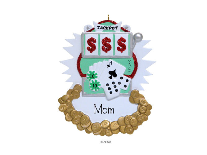 GAMBLING / LAS VEGAS / SLOT MACHINE ORNAMENT / MY PERSONALIZED ORNAMENT