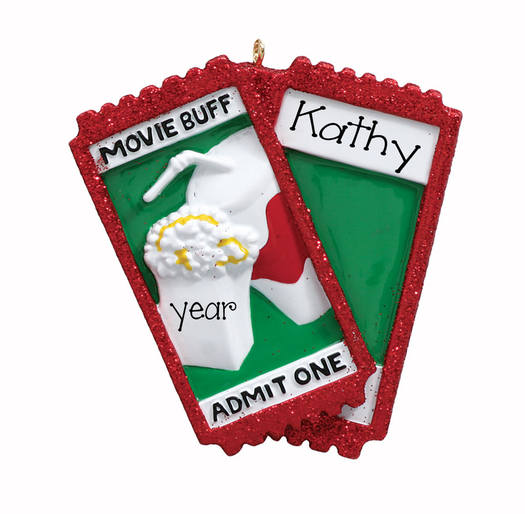 Movie buff-Personalized Ornament