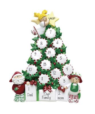Christmas Tree TABLETOP DECOR' Family of 9 up to 14 persons