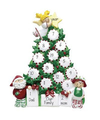 CHRISTMAS TREE TABLETOP DECOR' For a Family of 9 up to 14 persons, MY PERSONALIZED ORNAMENT