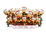 Reindeer Family of 12 Table Top Decor