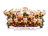REINDEER Family of 12 ~Table Top Decor