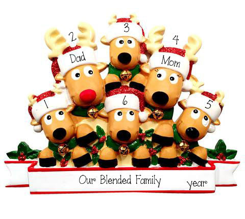 Reindeer Family of 6 Table Top Decor