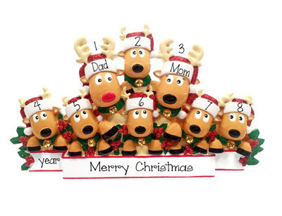 Reindeer Family of 8~Table Top Decor`