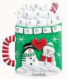 Hot Chocolate TABLETOP DECOR' For 8 up to 17 Grandkids, MY PERSONALIZED ORNAMENT