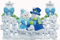BLUE GATE TABLETOP DECOR' For a Family of 9 up to 14 persons, MY PERSONALIZED ORNAMENT
