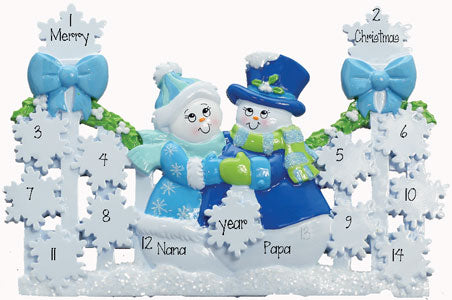 TABLETOP DECOR'  Blue Gate (up to 12) Grandkids""