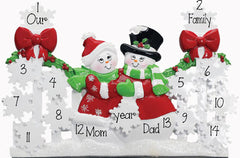 RED GATE TABLETOP DECOR' For a Family of 9 up to 14 persons, MY PERSONALIZED ORNAMENT