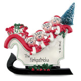 TABLETOP DECOR FAMILY OF 4 sleigh / MY PERSONALIZED ORNAMENT