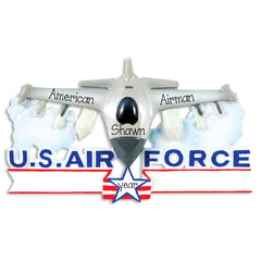 U.S. air force airplane, Personalized christmas Ornament