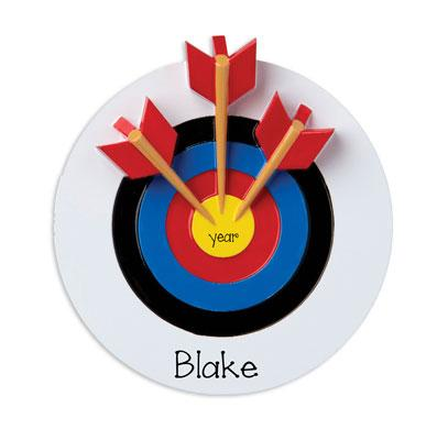 Archery with 3 Arrows~Personalized Christmas Ornament