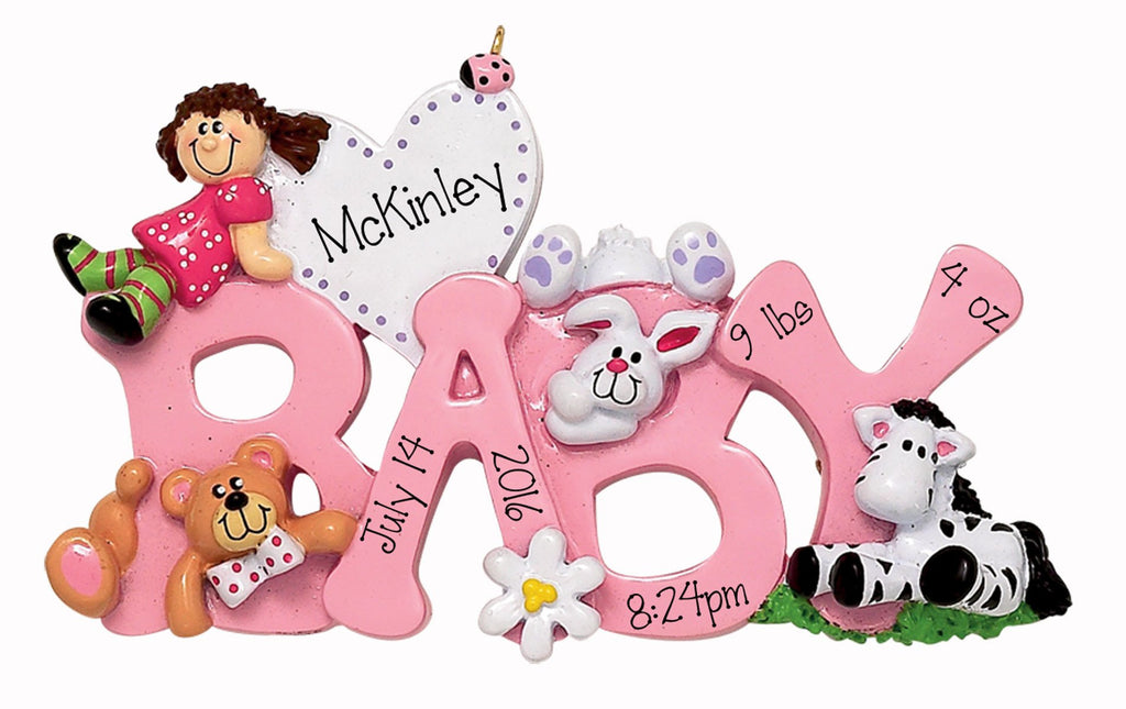 Baby Girl - Personalized Christmas Ornament