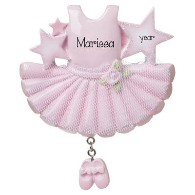 PINK BALLET DRESS with TULLE-Personalized Ornament