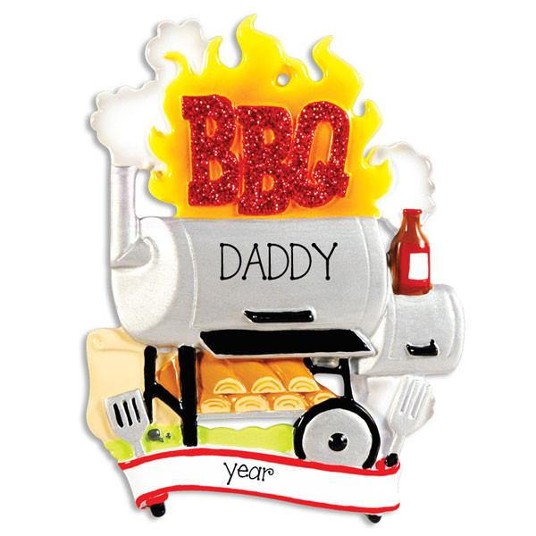 BBQ GRILL/SMOKER - Personalized Ornament