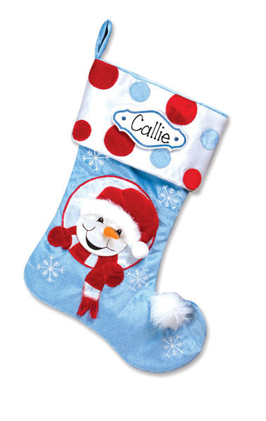 SNOWMAN~Personalized Christmas Stocking