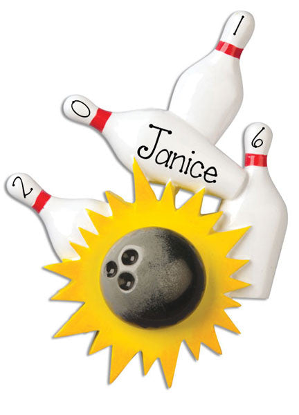 BOWLING - Personalized Christmas Ornament