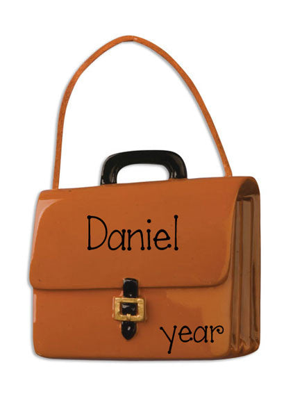 LEATHER BRIEFCASE - Personalized Ornament