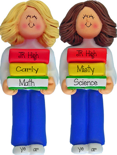 Female Jr High Student~Personalized Christmas Ornament
