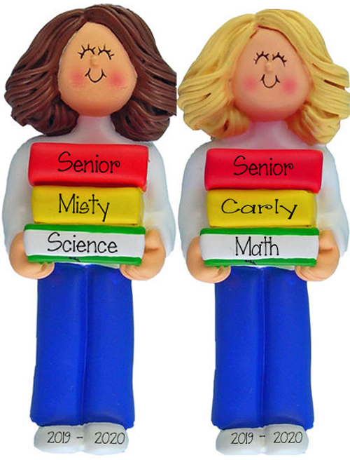 Female High School Student~Personalized Christmas Ornament