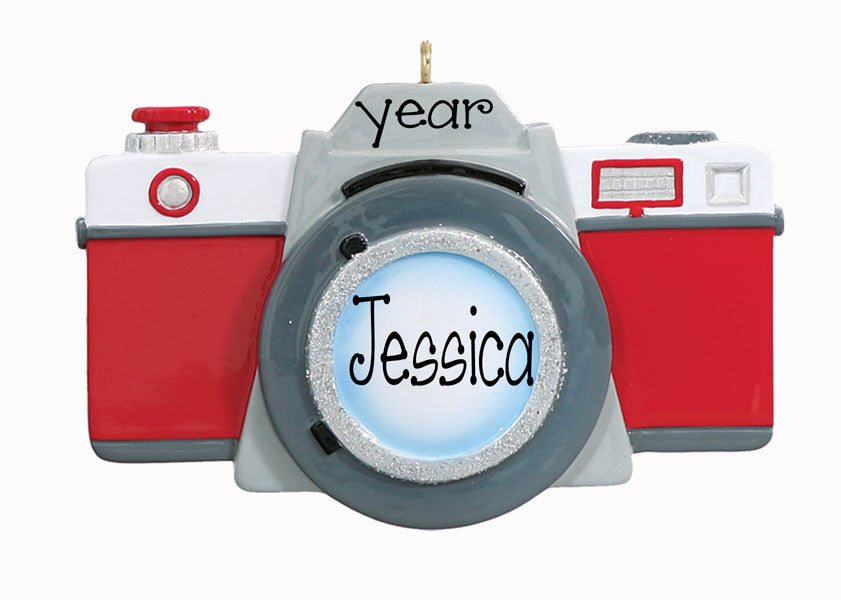 RED CAMERA - Personalized Christmas Ornament