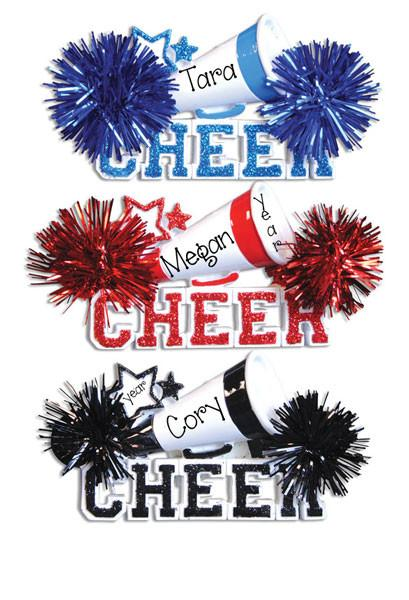 CHEER w/ POM POMS-Personalized Ornament