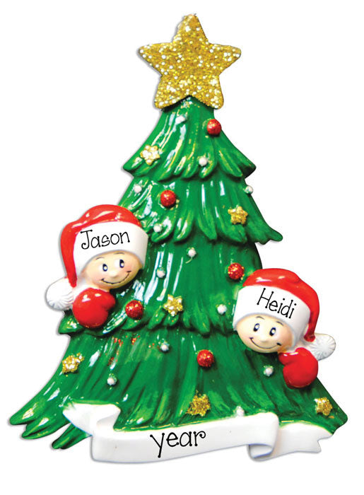 Christmas Tree for two - Personalized Ornament