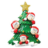 Family of 4 christmas tree, my personalized ornaments