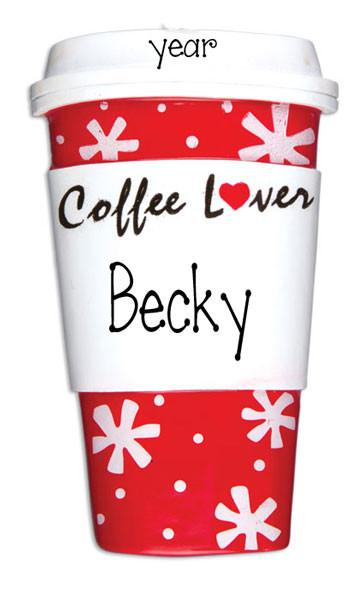 COFFEE LOVER- Personalized ornament