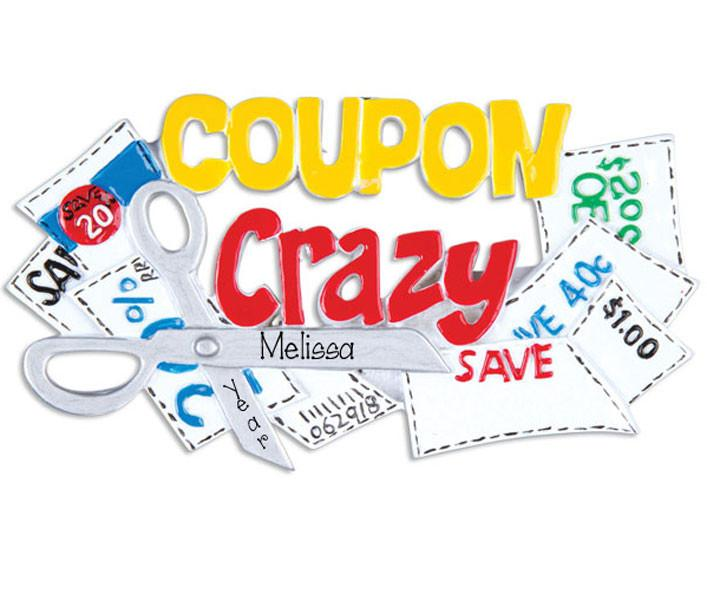 COUPON CRAZY - Personalized ornament