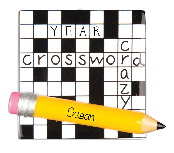 CROSSWORD PUZZLE - Personalized ornament