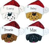BUILDING a SNOWMAN Family of 3~Personalized Christmas Ornament
