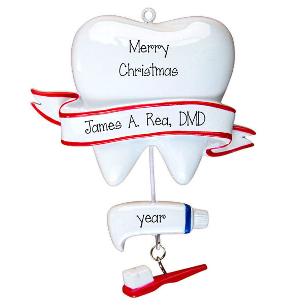 Dentist or Hygienist~Personalized Christmas Ornament