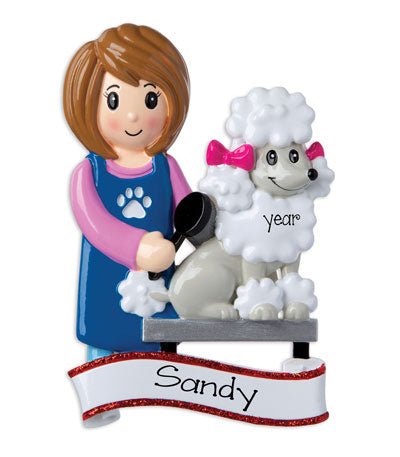 Female Dog Groomer~Personalized Ornament