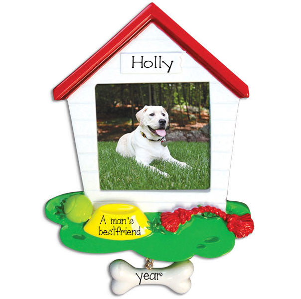 Dog House Photo Frame~Personalized Christmas Ornament
