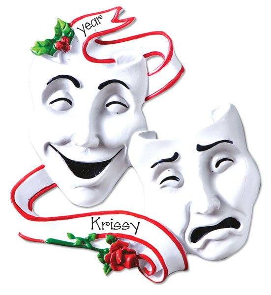 Theater/Drama Mask~Personalized Christmas Ornament
