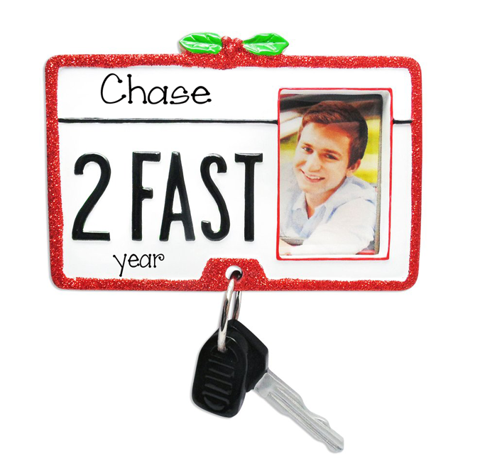 Photo Frame~DRIVER'S LICENSE w/ Keys~Personalized Ornament